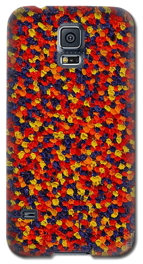 Abstract Galaxy S5 Case featuring the painting Soft Primary by Dean Triolo