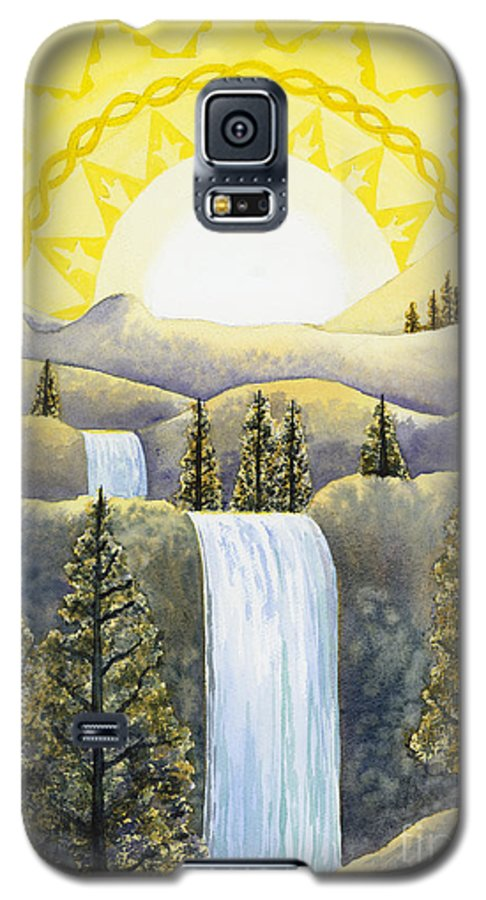 Power Galaxy S5 Case featuring the painting Solar Plexus Chakra by Catherine G McElroy