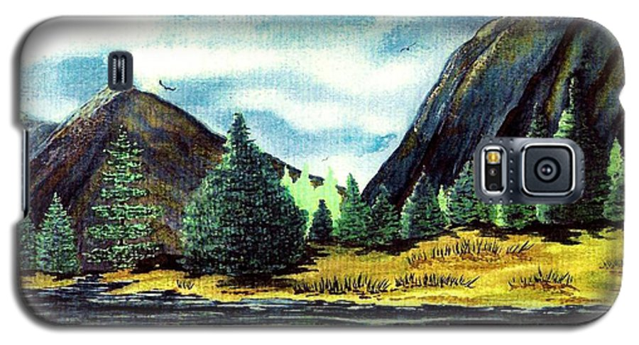 Fine Art Galaxy S5 Case featuring the painting Solitude by Patricia Griffin Brett