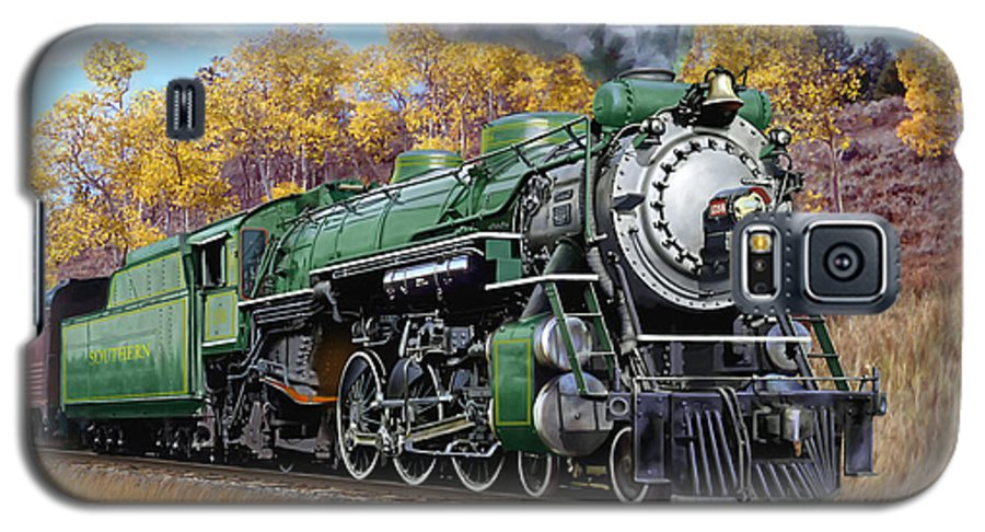 Railraod Galaxy S5 Case featuring the painting Southern Railway Class Ps-4 Pacific by Mark Karvon