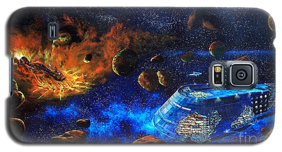 Future Galaxy S5 Case featuring the painting Spaceship Titanic by Murphy Elliott