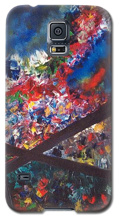Abstract Galaxy S5 Case featuring the painting Spectral Chaos by Micah Guenther