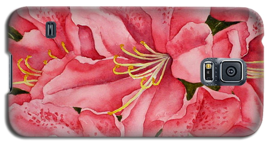 Watercolor Galaxy S5 Case featuring the painting Spring Azalea by Darla Brock