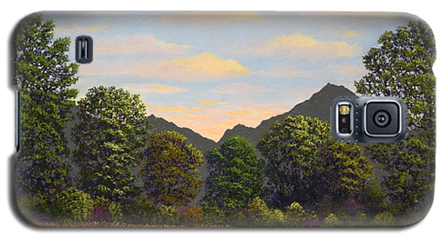 Spring Meadow At Sutter Buttes Galaxy S5 Case featuring the painting Spring Meadow At Sutter Buttes by Frank Wilson