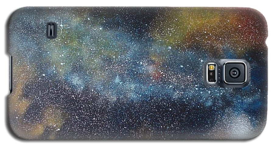 Space;stars;starry;nebula;spiral;galaxy;star Cluster;celestial;cosmos;universe;orgasm Galaxy S5 Case featuring the painting Stargasm by Sean Connolly