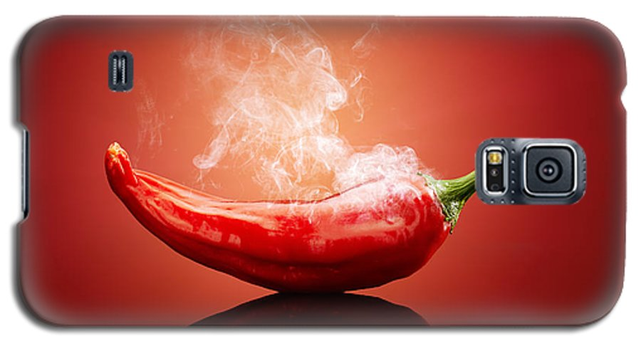 Chilli Galaxy S5 Case featuring the photograph Steaming Hot Chilli by Johan Swanepoel