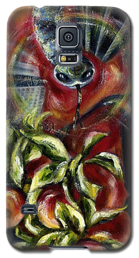 Snake Galaxy S5 Case featuring the painting Still... by Hiroko Sakai