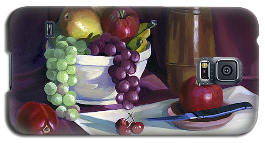 Fine Art Galaxy S5 Case featuring the painting Still Life With Apples by Nancy Griswold