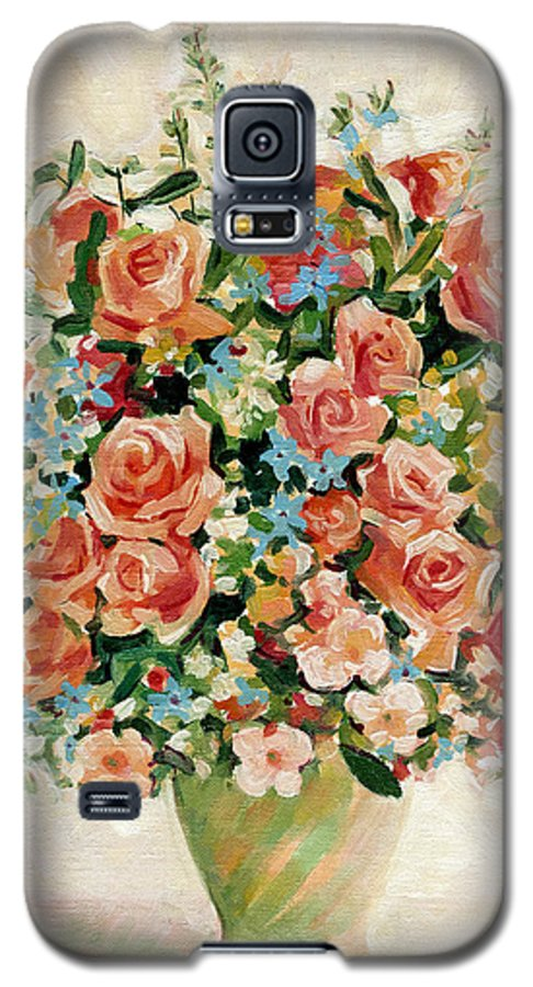 Flowers Galaxy S5 Case featuring the painting Still Life With Roses by Iliyan Bozhanov