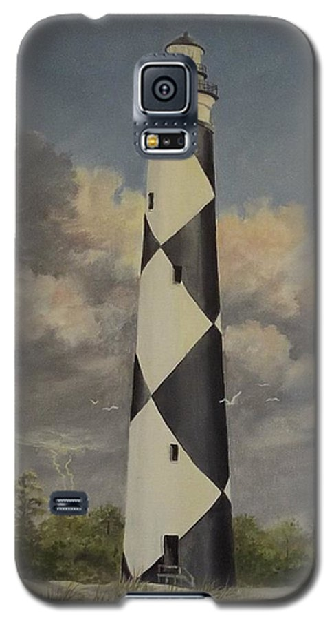 Stormy Skys Galaxy S5 Case featuring the painting Storm Over Cape Fear by Wanda Dansereau