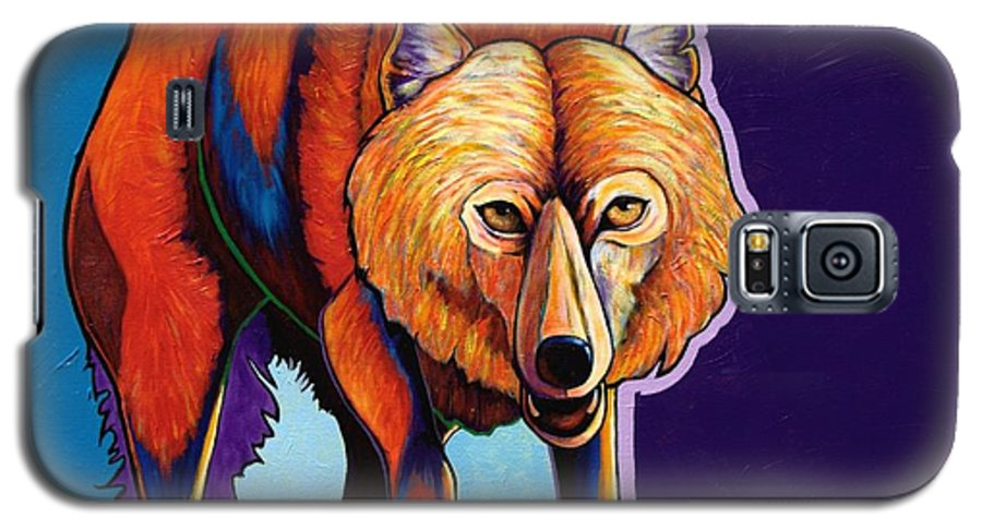 Contemporary Galaxy S5 Case featuring the painting Strictly Business - Arctic Wolf by Joe Triano