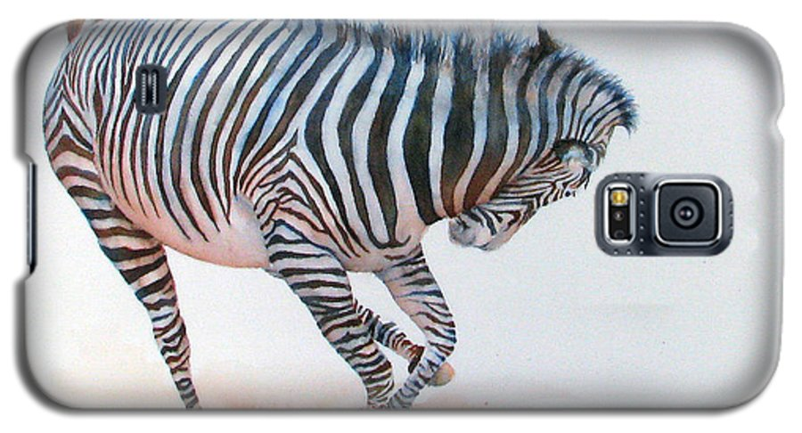 Zebra Galaxy S5 Case featuring the painting Stripes IIi by Patricia Henderson