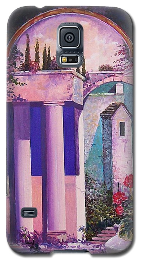 Still Life Galaxy S5 Case featuring the painting Structures With Emotional Dimensions by Sinisa Saratlic
