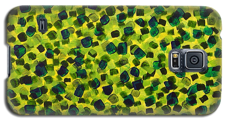 Abstract Galaxy S5 Case featuring the painting Sunlight Through The Trees 2 by Dean Triolo