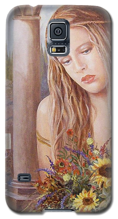 Portrait Galaxy S5 Case featuring the painting Summer Day by Sinisa Saratlic