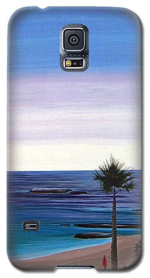 Malibu Beach Galaxy S5 Case featuring the painting Summer Samba by Hunter Jay