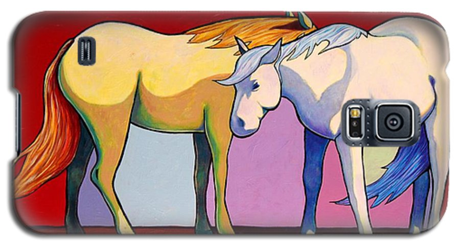 Wildlife Galaxy S5 Case featuring the painting Summer Winds - Mustangs by Joe Triano