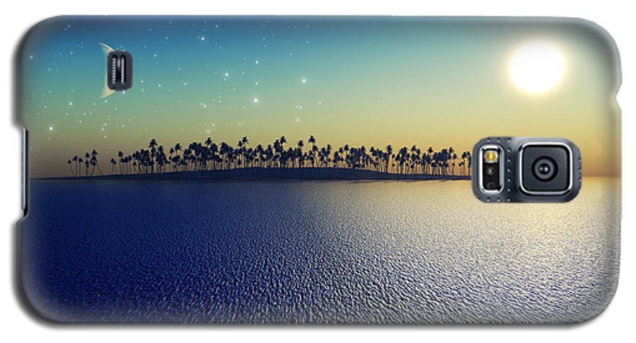 Islands Galaxy S5 Case featuring the digital art Sun And Moon by Aleksey Tugolukov