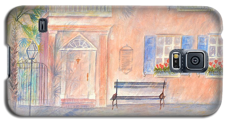 Charleston; Low Country; Palmetto Tree Galaxy S5 Case featuring the painting Sunday Morning In Charleston by Ben Kiger