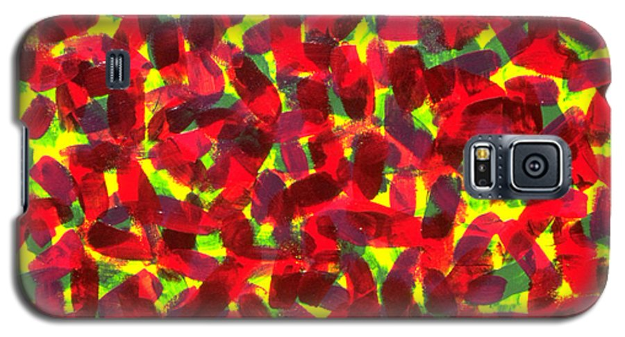 Abstract Galaxy S5 Case featuring the painting Sunlight Through The Trees by Dean Triolo