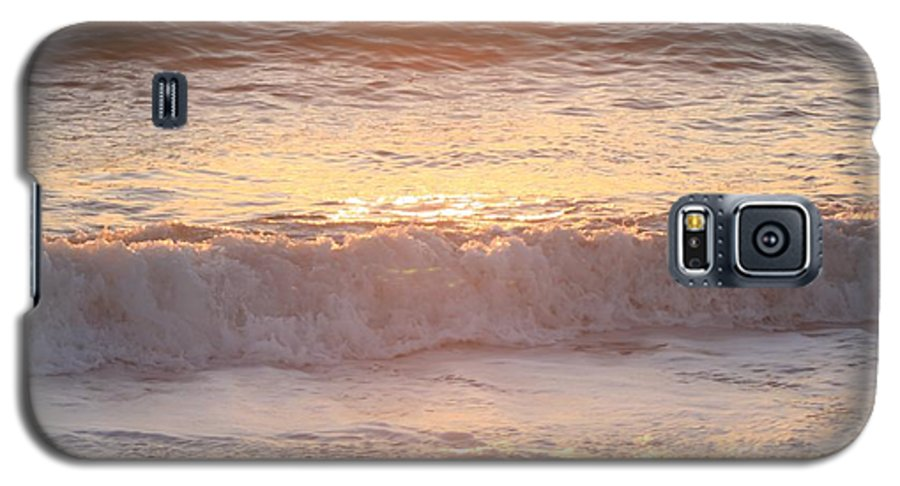 Waves Galaxy S5 Case featuring the photograph Sunrise Waves by Nadine Rippelmeyer