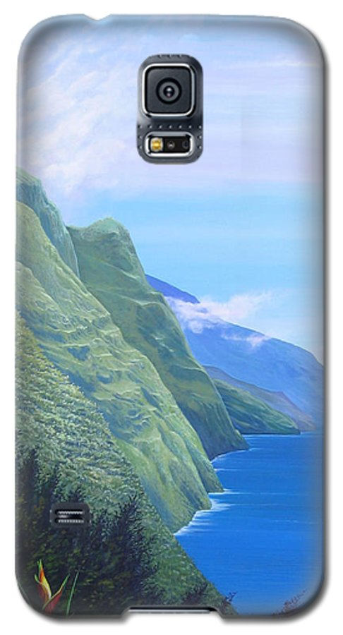 Landscape Galaxy S5 Case featuring the painting Sunshine In The Shade by Hunter Jay