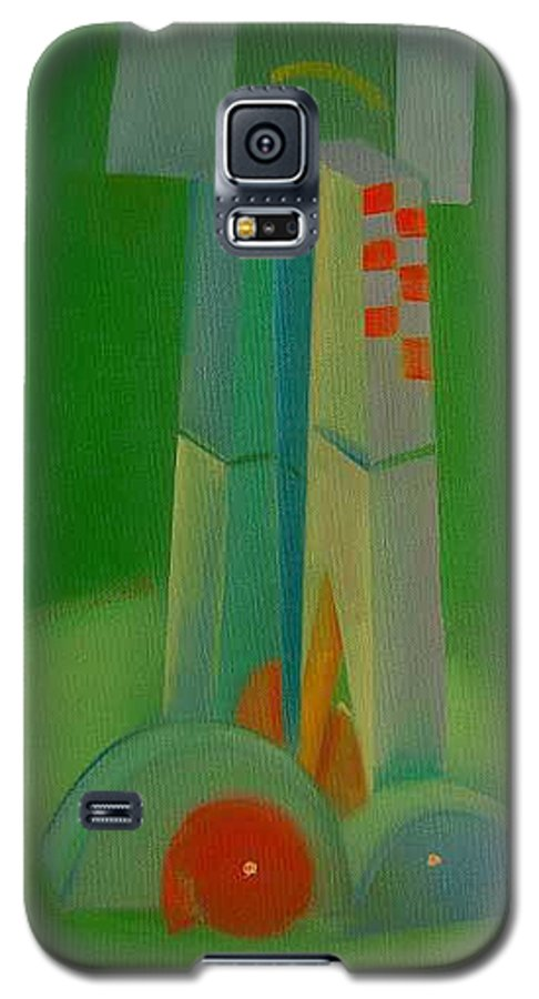 Cubist View Of Figure Galaxy S5 Case featuring the painting Survivors by Charles Stuart