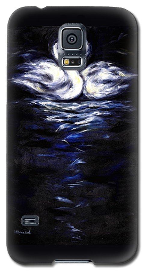 Bird Galaxy S5 Case featuring the painting Swan by Hiroko Sakai