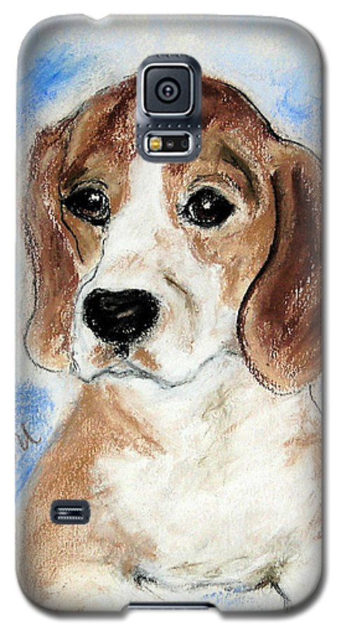 Dog Galaxy S5 Case featuring the drawing Sweet Innocence by Cori Solomon