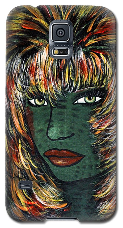 Woman Galaxy S5 Case featuring the painting Tattoo by Natalie Holland