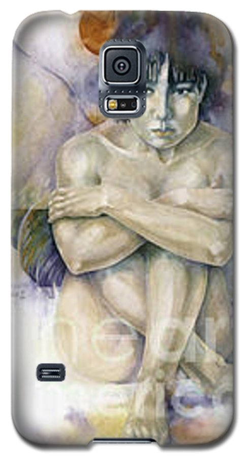 Angel Galaxy S5 Case featuring the painting Tessera First Awareness by Wendy Froshay