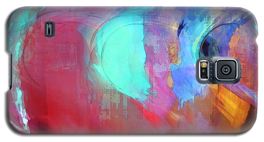 Abstract Galaxy S5 Case featuring the digital art The Afterglow by Linda Sannuti