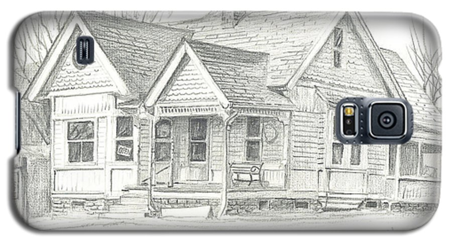 The Antique Shop Galaxy S5 Case featuring the drawing The Antique Shop by Kip DeVore