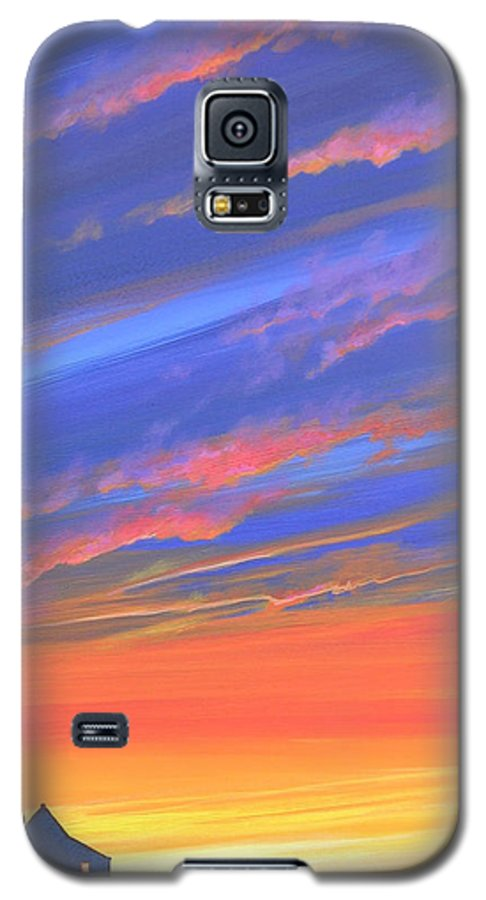 Sunset Galaxy S5 Case featuring the painting The Aunt's House by Hunter Jay