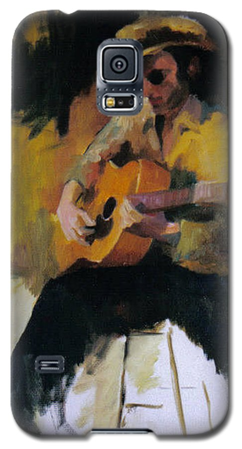 Man Galaxy S5 Case featuring the painting The Blues Man by John L Campbell