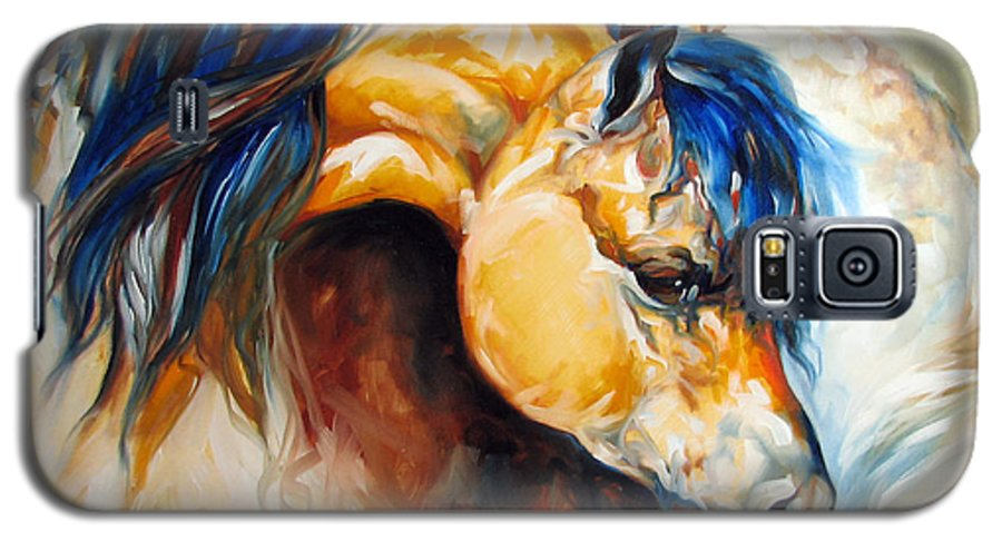 Horse Galaxy S5 Case featuring the painting The Buckskin by Marcia Baldwin