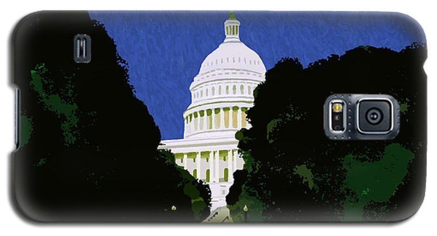 Capitol Galaxy S5 Case featuring the painting The Capitol by Pharris Art