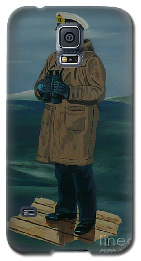 Captain Galaxy S5 Case featuring the painting The Captain by Anthony Dunphy