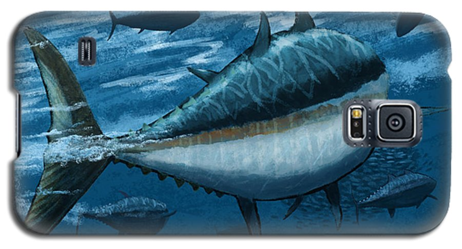 Tuna Galaxy S5 Case featuring the digital art The Chase by Kevin Putman