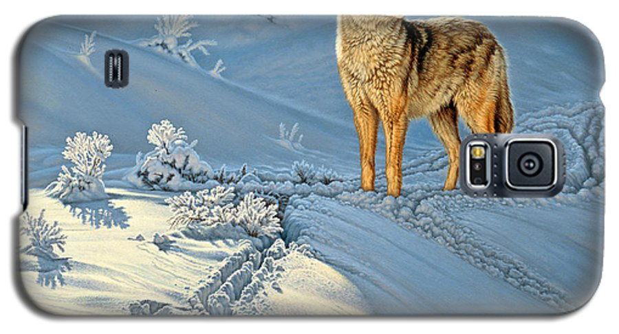 Wildlife Galaxy S5 Case featuring the painting the Coyote - God's Dog by Paul Krapf