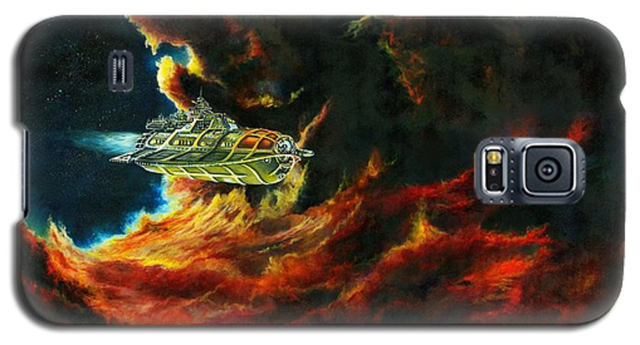Devil Galaxy S5 Case featuring the painting The Devil's Lair by Murphy Elliott
