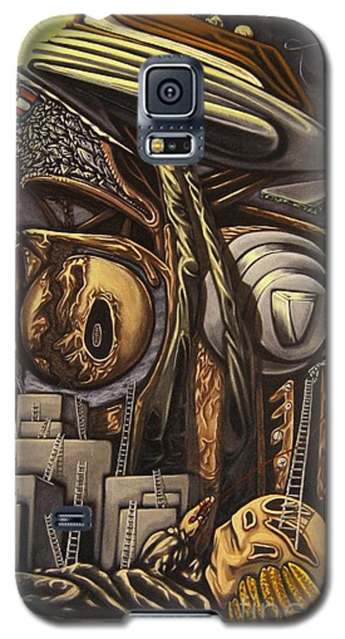 Surreal Galaxy S5 Case featuring the painting The Dow Itcher by Mack Galixtar