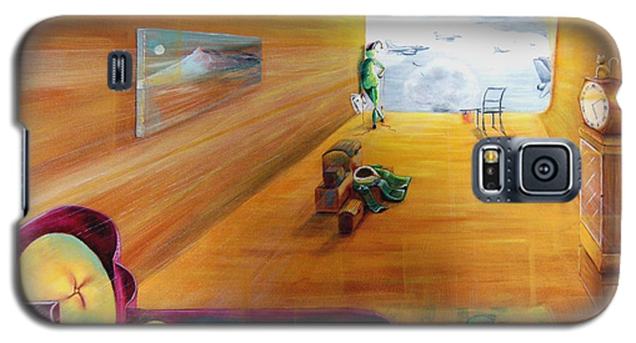 Fantasy Galaxy S5 Case featuring the painting The End Of War by Blima Efraim