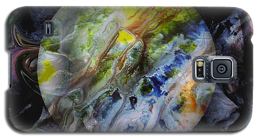 Surrealism Galaxy S5 Case featuring the digital art The Eye Of Silence by Otto Rapp