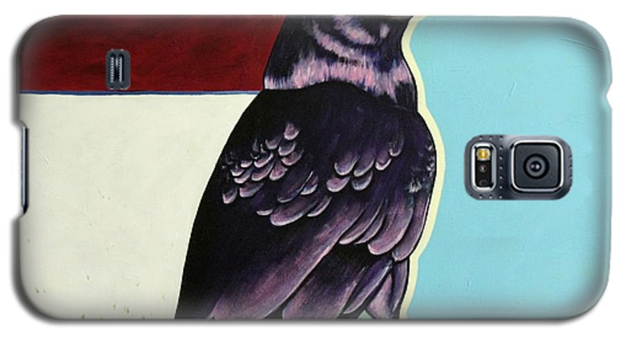 Wildlife Galaxy S5 Case featuring the painting The Gossip - Raven by Joe Triano