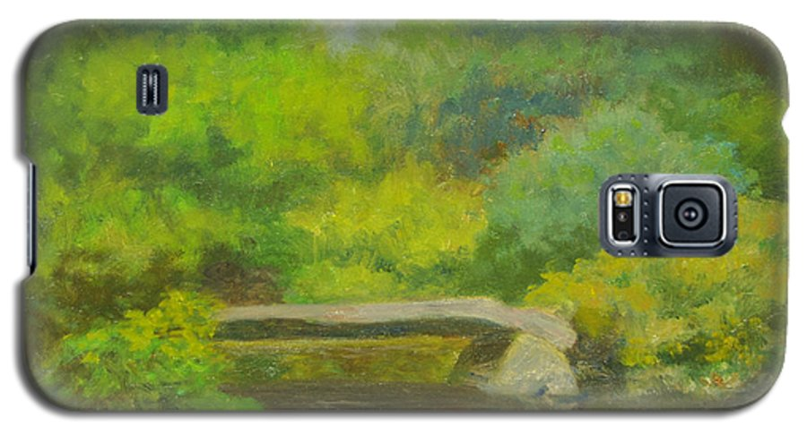 Landscape Galaxy S5 Case featuring the painting The Greens Of Summer by Phyllis Tarlow