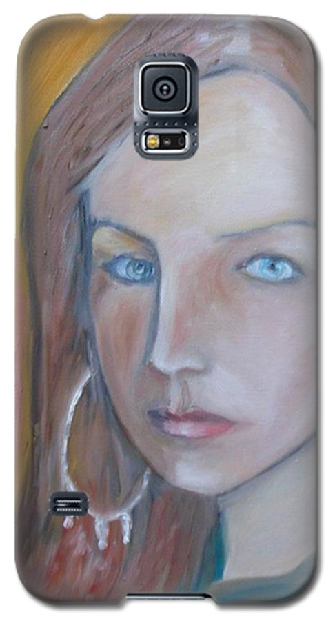 Portraiture Galaxy S5 Case featuring the painting The H. Study by Jasko Caus