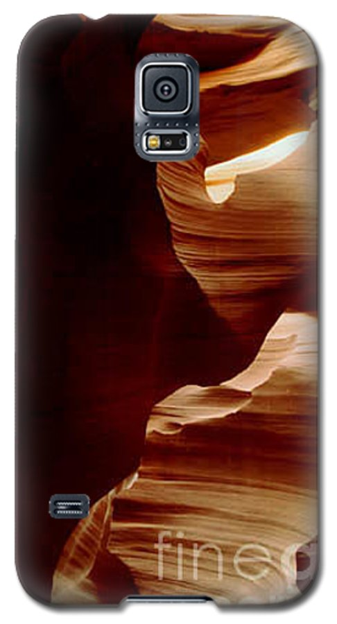 Landscape Galaxy S5 Case featuring the photograph The Heart Of Antelope Canyon by Kathy McClure