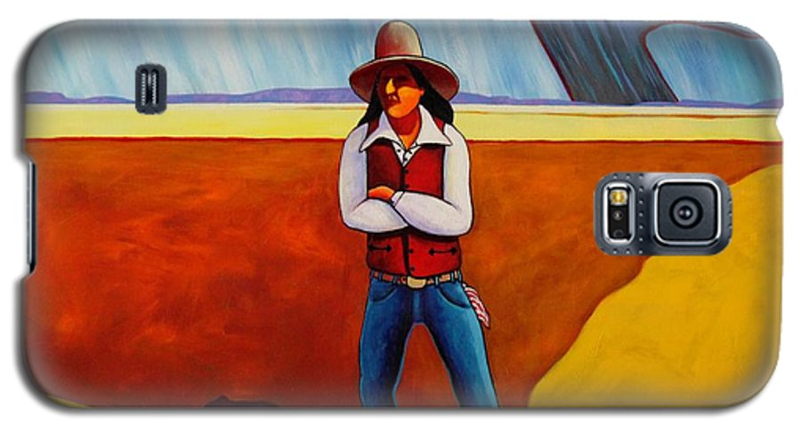 Native American Galaxy S5 Case featuring the painting The Logic Of Solitude by Joe Triano