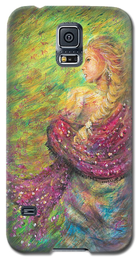 Lady Galaxy S5 Case featuring the painting The Magdelene by Nik Helbig